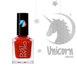 ΒΕΡΝΙΚΙ DUST+CREAM UNICORN No 052 ΚΟΚΚΙΝΟ SET ME ON FIRE