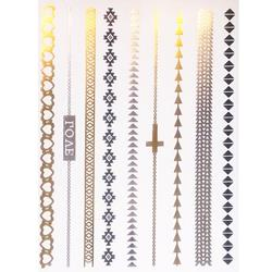 FLASH TATTOO BRACELETS  METALLIC TEMPORARY TATTOO (TO-8235)