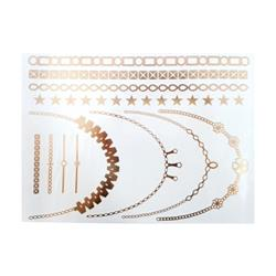 FLASH TATTOO GOLD MIXED DESIGNS (FT-0002) DUST+CREAM