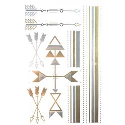 FLASH TATTOO MIXED DESIGN ARROWS METALLIC TEMPORARY TATTOO  (TO8237)