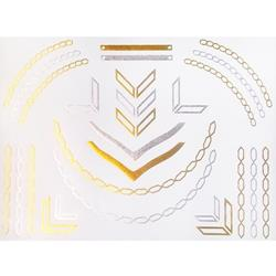 FLASH TATTOO NECKLACES AND ARROWS METALLIC TEMPORARY TATTOO (TO-8236)