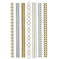FLASH TATTOO BRACELETS  METALLIC TEMPORARY TATTOO (TO-8236)