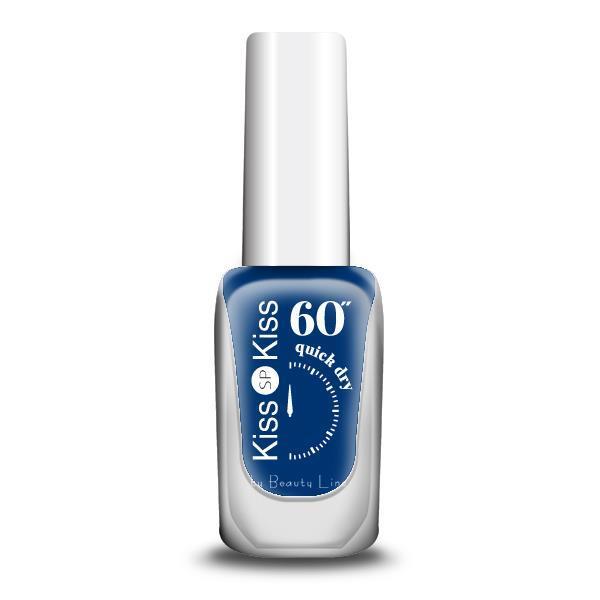 """ΒΕΡΝΙΚΙ KISS-KISS 60"""" QUICK DRY Νο 375 PRIME BLUE"""