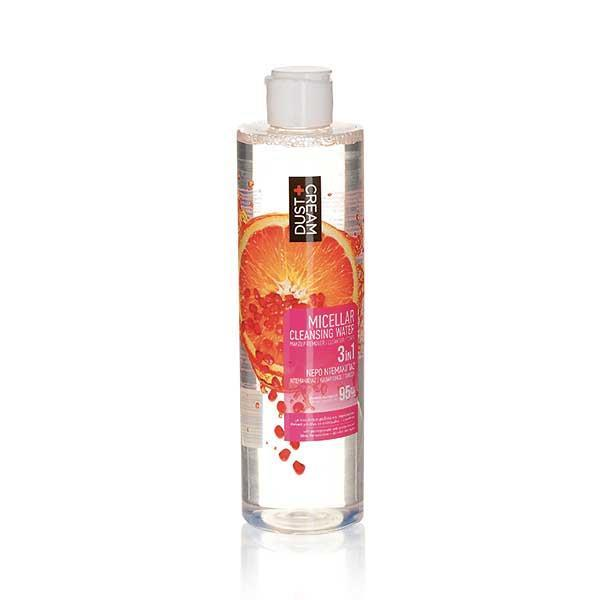MICELLAR WATER CLEANSER DUST+CREAM NATURAL LOVE 300 ML ΜΕ ΕΚΧΥΛΙΣΜΑ ΡΟΔΙΟΥ ΚΑΙ ΠΟΡΤΟΚΑΛΙΟΥ