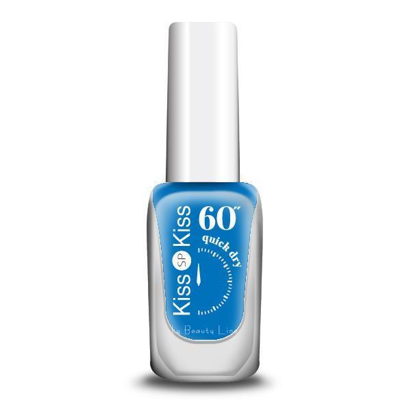 """ΒΕΡΝΙΚΙ KISS-KISS 60"""" QUICK DRY Νο 379 MYKONOS BLUE"""